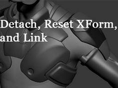 Advanced Technique #4 - Detach, Reset XForm, and Link - YouTube