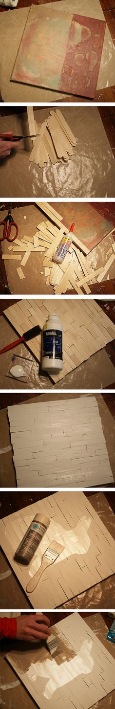 Easter decor tutorial Faux Wood Pallet canvas @savedbyloves