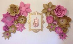 Large Paper Flowers-Backdrop-Wedding Arch-Photo Booth-Flower Wall-Birthday Pary-Nursery Art-Custom-Bridal Shower-Princess-Props-Diy by LavishInspirations on Etsy