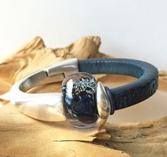 Leather Cuff Bracelet by FusionBloom on Etsy