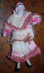 "3 1/2"" Antique All-bisque Flapper doll - 2Bethsdolls #dollshopsunited"