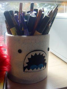 Yeti pencil holder