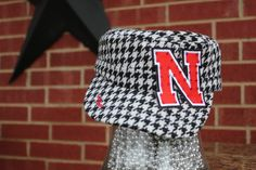 Nebraska Cornhuskers Bling Distressed Cadet Style by iheartmoes, $40.00