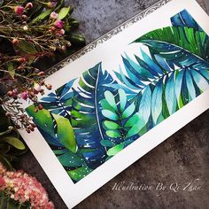 Maybe the last summer style~ Watercolor Leaves, Watercolor Artwork, Watercolor And Ink, Painting & Drawing, Drawing Artist, Artist Art, Comic Style, The Last Summer, Indian Folk Art