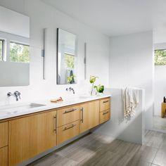 Originally built in 1951 by Edwin Pfluger, this midcentury modern home in Austin was remodeled ...