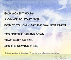 """Listen to """"Chance to Start Over"""" to sooth and comfort your spirit. http://www.sunlightofthespirit.com/product/1-Sonia-Lee-Chance-To-Start-Over"""