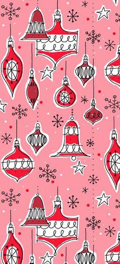Vintage ornaments pattern (pink colourway) Alanna Cavanagh #SURTEX