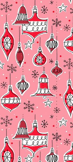 Vintage ornaments pattern (pink colourway)  Alanna Cavanagh SURTEX