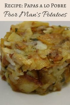 Poor Man's Potatoes or Papas a lo Pobre is one of our favorite Malaga Recipes. Great as an easy side dish, it is sure to please!