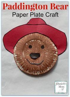 Paddington Paper Plate Craft