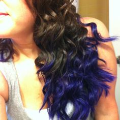 Purple ombre hair-  I'm bored so why not... Guess I'm headed to Walmart!