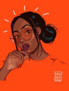 Posted by: mumudesigns #PostsIlike on #Tumblr Black Girl Cartoon, Cartoon Girl Drawing, Black Girl Art, Black Women Art, Cartoon Art, Art Girl, Drawings Of Black Girls, Arte Black, Black Art Pictures