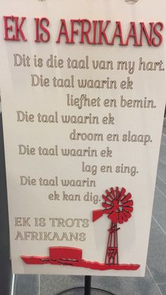 Ek is trots Afrikaans Afrikaanse Quotes, Singing, Sayings, Words, Paint, Diamond, Funny, Bedroom, Living Room
