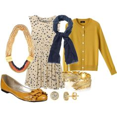 mustard yellow and navy blue :)
