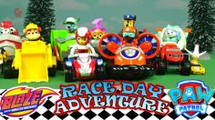 PAW PATROL and the Adventure Bay Race Day Adventure Blaze and the Monste...