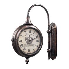 Bute Bronze Antique Double Sided Wall Clock Sterling Industries Wall Mounted Clock Clocks