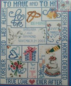 Wedding Sampler To Have and To Hold Counted Cross Stitch Kit Candamar Designs #CandamarDesigns #CountedCrossStitchKit