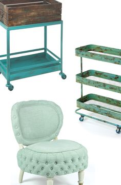 Parisian Furniture & Décor yay mint and teal Loft Furniture, Furniture Decor, Color Menta, My Living Room, Living Spaces, Dot And Bo, New Room, Furniture Collection, Apartment Living