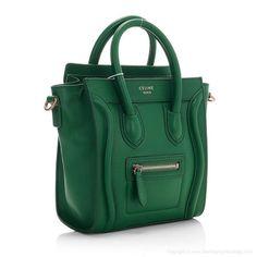 green Celine Boston tote. A girl can dream right?