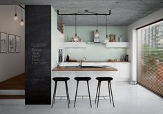 If your home has an open-plan feel (or you want it to), opting for a U-shaped kitchen layout can be an effective means of zoning a large, open space. U Shaped Kitchen, Big Kitchen, Kitchen Layout, Kitchen Decor, Kitchen Ideas, Space Kitchen, Kitchen Trends, Kitchen Cupboards, Kitchen Stuff