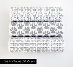 FREE PRINTABLES: MODERN DOG-THEMED GIFT WRAP