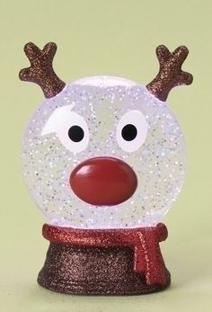 Rudolph LED Glitter Globe. #SnowGlobe #Snow #Globe #Gift #gosstudio .★ We recommend Gift Shop: http://www.zazzle.com/vintagestylestudio ★