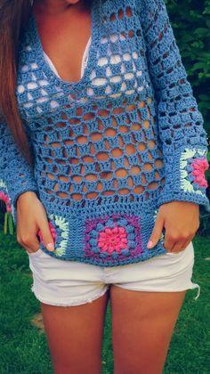 Fabulous Crochet a Little Black Crochet Dress Ideas. Georgeous Crochet a Little Black Crochet Dress Ideas. Crochet Bodycon Dresses, Black Crochet Dress, Crochet Blouse, Crochet Shawl, Easy Crochet, Crochet Bikini, Knit Crochet, Crochet Baby, Moda Crochet