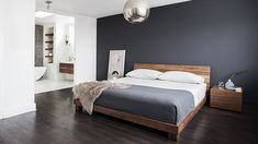 What Absolutely Everyone Is Saying About Dark Grey Accent Wall Bedroom Room Colors - walmartbytes Home Decor Bedroom, Bedroom Decor Inspiration, Bedroom Inspirations, Contemporary House, Bedroom Wall, Gray Accent Wall Bedroom, Modern Bedroom Interior, Home Decor, House Interior