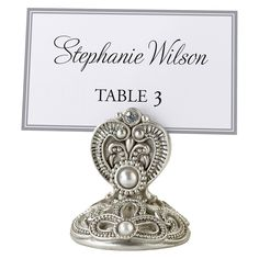 Jeweled Table Place Holder (set of 4)