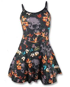 Liquor Brand Damen ALOHA - strap Kleid.Oldschool,Tattoo,Pin up,Custom Style