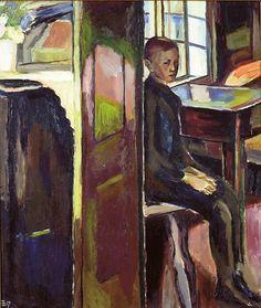 Henrik Sørensen (Norwegian, Gutt i interiør [Boy in interior], Oil on canvas Poster Photography, Scandinavian Art, Impressionist Paintings, Cool Posters, Figure Painting, Art Forms, Fairy Tales, Auction, Scene