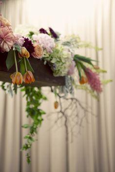 Hanging flower centerpiece