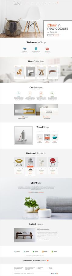 See.shop is a beautifully design premium #PSD template for stunning #furniture #shop eCommerce website with 12 unique homepage layouts and 31 organized PSD pages download now➩ https://themeforest.net/item/seeshop-psd-template/18331832?ref=Datasata