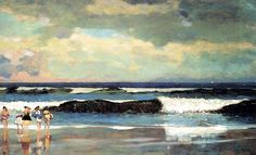 Winslow Homer (1836-1910) On the Beach at Long Branch, New Jersey from the It's About Time blog