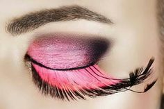 Eye with pink eyelashes. Macro eye of a woman with pink smoky eyeshadow with lon , Pink Eye Makeup, Dramatic Eye Makeup, Dramatic Eyes, Beauty Makeup, Makeup Inspo, Beauty Tips, Feather Eyelashes, Fake Lashes, False Eyelashes