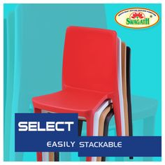 SELECT - Stackable monoblock #chair moulded in virgin polypropylene. Full solid and smooth backrest gives this matte finish chair a bold look and a commanding presence. Visit us at www.swagath.co today to select from the attractive color options to match your style!!