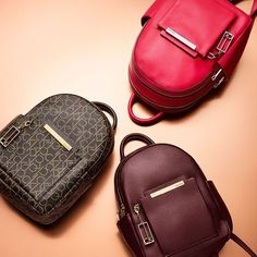 the Kenner leather double-zip backpack. Calvin Klein