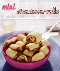 Mini Cinnamon Rolls  - no yeast, no kneading, no proofing, no special pan needed, ready in minutes! - kitchennostalgia.com