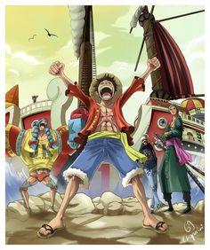One Piece :©Eiichiro Oda Lineart by millatea.deviantart.com/art/Th… Coloring by me
