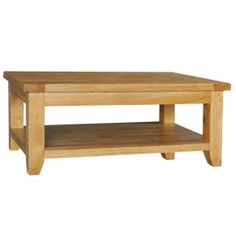 Buy the Provence Oak Rectangular Coffee Table with Shelf from EW Home Furniture for with free delivery. Coffee Table With Shelf, Oak Coffee Table, Modern Coffee Tables, Contemporary Side Tables, Wood Construction, Home Furniture, Shelves, Rustic, Living Room