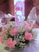 Baby Shower Baby Bottle Floral Table Centerpiece #babyshower