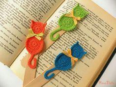 Trendy Ideas For Crochet Cat Toys Tutorial Marque-pages Au Crochet, Chat Crochet, Crochet Motifs, Crochet Cross, Crochet Gifts, Free Crochet, Crochet Bookmark Pattern, Crochet Bookmarks, Tutorial Crochet