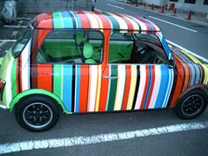 vintage Mini Cooper decorated by Paul Smith