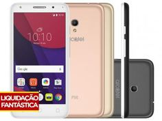 9b17a8ed023 Smartphone Alcatel PIXI4 5 Metallic 8GB Branco - Dual Chip 4G Câm. 8MP +  Selfie 5MP Cartão 16GB  SmartphoneAlcatel