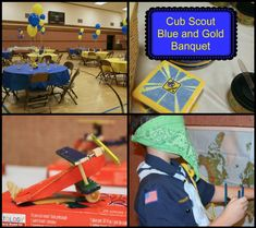 Cub Scout Blue and Gold Banquet: Aviator Theme Airplanes, gliders, game and decor ideas, really great post!