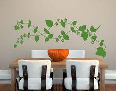 vinilo floral para la decoración de paredes