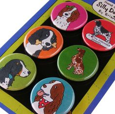 Springer Spaniel Silly Dog Magnet Set by SillyDogMagnets on Etsy