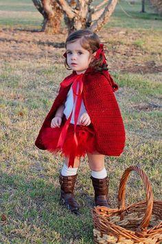 Outfit für kleines Mädchen - Rotkäppchen