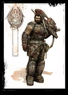 Image for Gears of War 3 (Xbox - Character Concept Art Game Character Design, Character Concept, Concept Art, Man Character, Character Reference, Cgi, James Hawkins, Gears Of War 3, Future Soldier