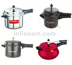 The Pressure Cooker is all times honor for the low-cost and simple method to create foodstuff well and speedily. The foodstuff steam in pressure cookers retains its test and reserves. Most of all women use pressure cookers in India from lots of years. Buy Pressure cooker at best price from online shopping portal Infibeam.com.